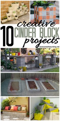 10 Creative Outdoor Projects Using Cinder Blocks | Here Comes The Sun