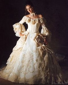 Beautiful Marie Antoinette inspired wedding dresses that can either be found on Etsy.com or @ weddingdressfantasy.com. All dresses are handmade and come in a wide variety of colors and styles.