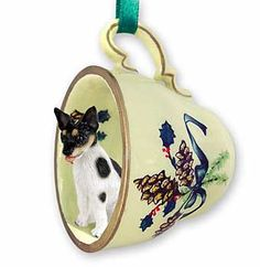 Rat Terrier Teacup Ornament