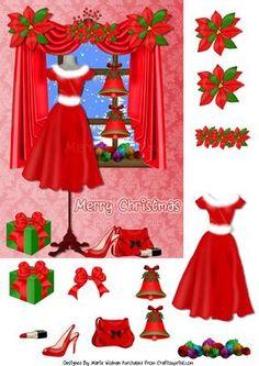 Christmas Red Dress - Now on sale at Craftsuprint. http://www.craftsuprint.com/default.cfm?r=329897&designer=1294