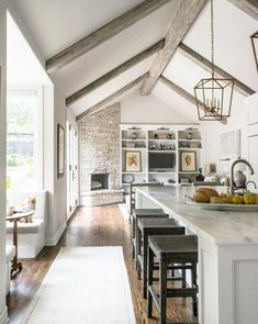 drooling over this home's breakfast nook and vaulted ceilings