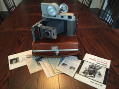 Vintage POLAROID 850 Electric Eye Land Camera With Case and Accessories CLEAN!