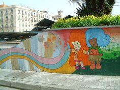 Amazing piece of street art from Barcelona (behind the market on Las Ramblas)