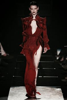 Cranberry gown with high #slit ~ETS