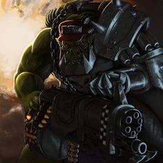 Ork boy with minigun = entertainment.