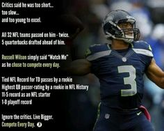 Russell Wilson ~ bad ass.  Never mind what the haters say
