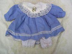 Staré Panenky oblečení SkyBlueWhite šaty výstroj vintage oblečení pro panenky-40-cm-girl
