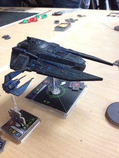 My black & blue Phantom/Decimator squad | Star Wars X-Wing Miniatures repaint