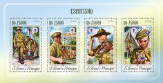 Post stamp São Tomé and Príncipe ST 14517 aScouting (Robert Baden-Powell (1857-1941))