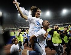 Paolo Cannavaro and Edinson Cavani