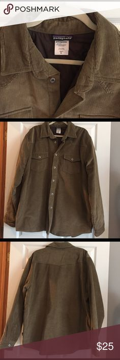 Men's Patagonia insulated fjord corduroy jacket Super warm men's Patagonia button down fjord insulated corduroy jacket. Size XL. Only worn once, excellent condition. Patagonia Jackets & Coats Lightweight & Shirt Jackets