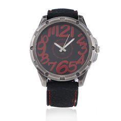 Sale 18% (4.45$) - WEIJIEER Big Dial Numeral Rubber Quartz Sport Watch