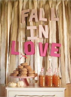 6 Fall Wedding Treats We Love: Lover.ly We've been planning our dream weddings since we were five years old.ly, a wedding inspiration site that. Fall Wedding, Our Wedding, Dream Wedding, Wedding Reception, Wedding Venues, Autumn Weddings, Wedding Trends, Friend Wedding, Reception Ideas