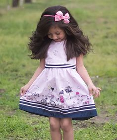 Look what I found on #zulily! Pink & Navy Sunny Day Dress - Infant, Toddler & Girls by Sweet Charlotte #zulilyfinds