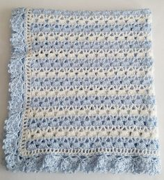 19 Super Ideas For Crochet Baby Boy Booties Free Baby Boy Crochet Blanket, Baby Boy Blankets, Blue Blanket, Crochet Blanket Patterns, Baby Patterns, Crochet Baby, Crochet Gifts, Knit Patterns, Baby Boy Booties