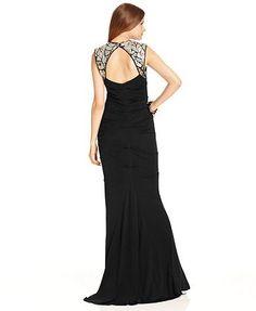 Xscape Dress, Sleeveless Sequin Evening Gown - Womens Dresses - Macy's