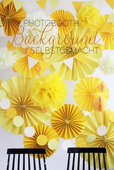 D.I.Y. Background für Hochzeitswahn #wedding #pompom #backdrop