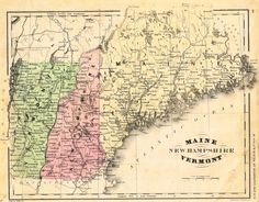 """Striking hand-colored lithograph map from Francis McNalley's """"AN IMPROVED SYSTEM OF GEOGRAPHY"""" published in 1866 in Chicago. The map's image is about 11' x 8 1/2"""" on a page that is 12"""" x 9 1/2"""". The t"""