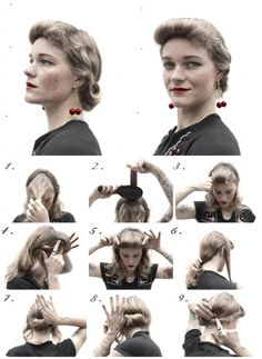 Ave Garder Look - How-To Hair Girl   1940's hairstyles Archives