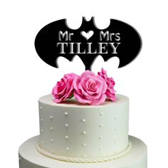 Solid Black  number74 Sugar Yeti Brand Made in USA Custom Cake Toppers Mr Heart Mrs Batman Wedding Cake Toppers Personalized With Last Name >>> Final call for this special discount  : Baking desserts tools