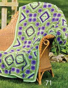 Purple Passion by Susan Solakian. Crochet World Magazine, Fall 2010: Afghans!....   I finally found the magazine with the pattern....can't wait to do this one!!!
