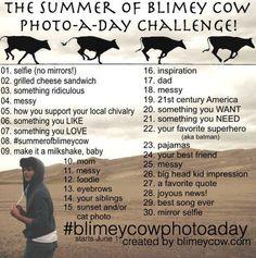 Blimey Cow Photo Challenge!  @Molly Simon Simon Briggs and @Annie Compean Compean Reynolds