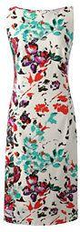 Lands' End Women's Plus Size Stretch Woven Sheath Dress-Falling Petals - On Sale  #afflink