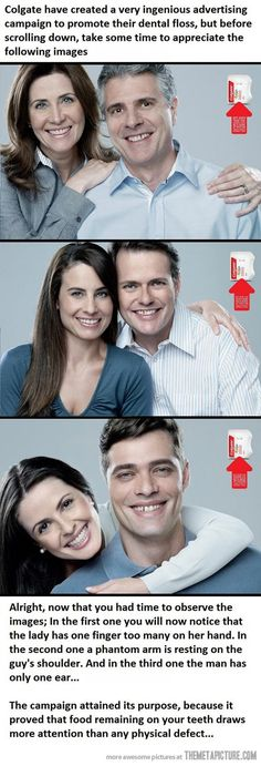 Colgate's Creative Advertising.  This is absolutely brilliant!!