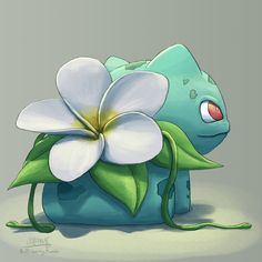 Plumeria Bulbasaur just sits around looking pretty because it doesn't want to mess up its perfect flower.