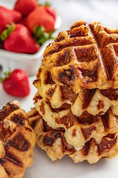 These Liege Waffles are a unique, European-style waffle that are caramelized on the outside and chewy on the inside. Be warned: these are so delicious, you will be ruined for any other kind of waffle. Liege Waffle Recipe Easy, Liege Waffles Recipe, Waffle Recipes, Pastry Recipes, Dessert Recipes, Sugar Waffles Recipe, Freezer Recipes, Freezer Cooking, Milk Recipes