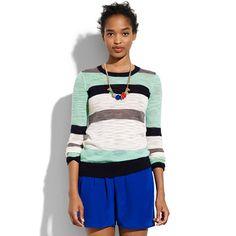 Multistripe Colorlane Pullover