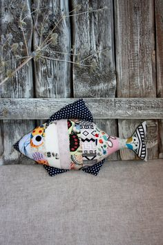 Stuffed fish. Decorative pillow  fish, multicolor fish, striped fish, toy fish, cotton fish - pinned by pin4etsy.com