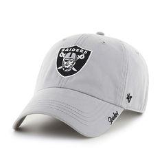 Oakland Raiders Miata Clean Up Steel Grey 47 Brand Womens Hat Oakland  Raiders Hat 34490cffc59e