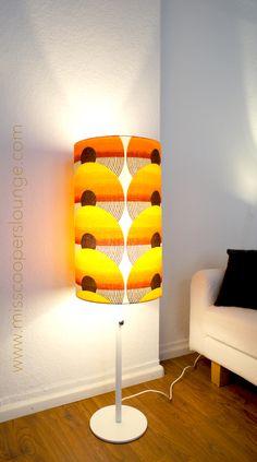 Lampenschirm mit orig. Stoff aus den 70er Jahren (neu gefertigt)