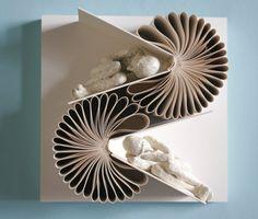 Book sculpture by Daniel Lai