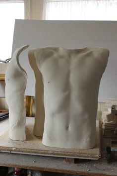 New sculpture #body #torso #sculpture #porcelain