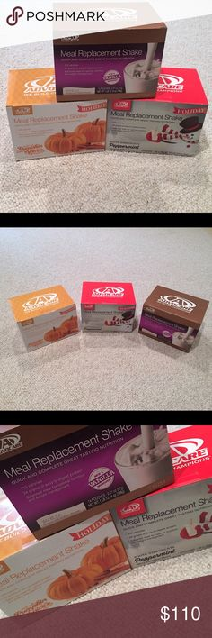 AdvoCare Meal Replacement Shakes All unopened boxes! 220 Calories. 22 grams of easy to digest protein. Balanced meal for optimal nutrition and weight management! 15 pouches per box!! - Vanilla, Pumpkin Spice, and White Peppermint Chocolate. All amazing flavors! 🎃⛄️ All 3 for $110. Purchase individually for $40 AdvoCare Other