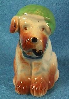 Vintage Occupied Japan Miniature Terrier Dog With Pipe And Hat | eBay