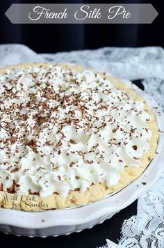 French Silk Pie 1 from willcookforsmiles.com #pie