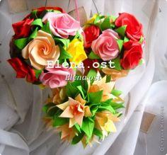 """El trabajo en clase, la artesanía, Kusudama producto: Kusudama """"Roses"""" Papel.  Foto 1"""