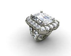 Custom Engagement Ring Jewelry Design 14kt 18kt Platinum Cubic Zirconia or Genuine Diamonds
