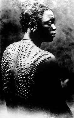 Africa | Scarification of the Tabwa people of DR Congo || Photo courtesy of the White Fathers' Archives, Rome.