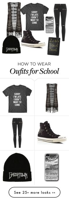 """School:_#7"" by marshmallowkuini on Polyvore featuring мода, Paige Denim и Converse"