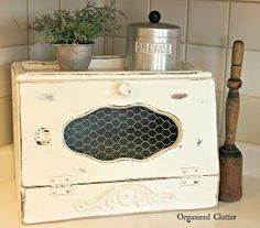 Vintage Farmhouse Styled Breadbox Redo                                                                                                                                                                                 More