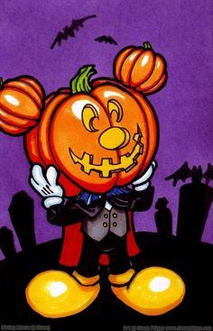 Pumpkin Head Mickey