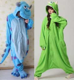 Me and my friend are doing this for Halloween, and our third friend is being BOO Sully Costume, Onesie Costumes, Halloween Onesie, Best Friend Halloween Costumes, Cute Costumes, Halloween Outfits, Cosplay Costumes, Cute Onesies, Cute Pjs