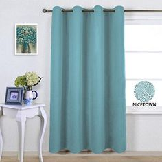 nicetown three pass microfiber noise reducing thermal insulated solid ring top blackout window curtain drape