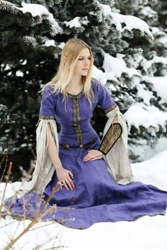 """Archeress"" dress is beautiful in any color, our customers are beautiful in any dress... https://armstreet.com/store/medieval-clothing/medieval-flax-linen-dress-archeress It's the best price ever, so you might even take two of those :-)"