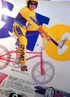 80's GT Performer freestyle bike advertisement featuring pro Martin Aparijo.