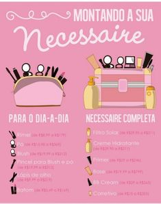 #maquiagem #necessaire My Beauty, Beauty Care, Beauty Skin, Beauty Makeup, Beauty Hacks, Hair Makeup, Oily Skin Care, Skin Care Tips, Pinterest Makeup